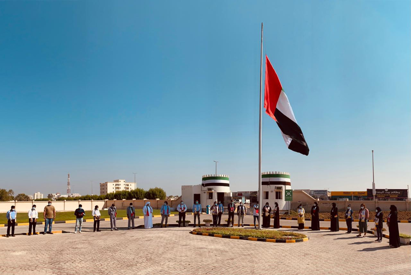 Umm Al Quwain Broadcasting Network celebrated the Flag Day 3rd November 2020. Employees of all nationalities gathered to participate in the celebration of the national occasion of the UAE.